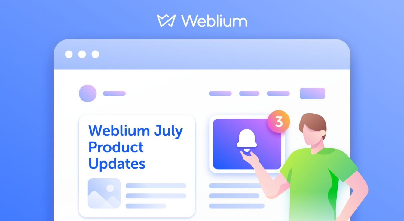 What's New in July: Weblium CRM, Enriched Pop-ups, and More Templates!