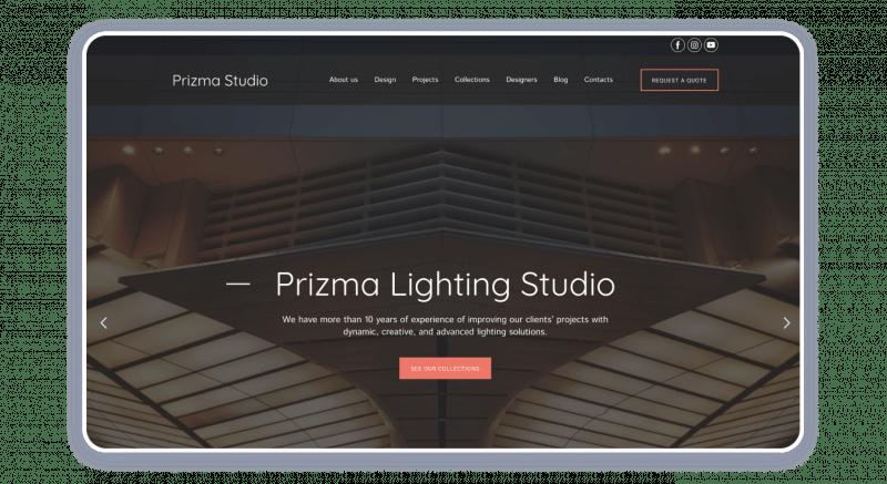Lightning Design Studio Website Template