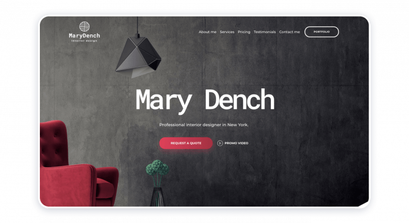 Interior Designer Website Template