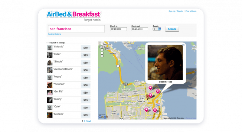 Airbnb's MVP example