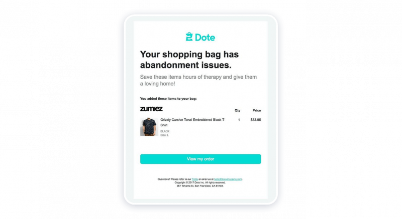 Email Follow-Up or Checkout Page