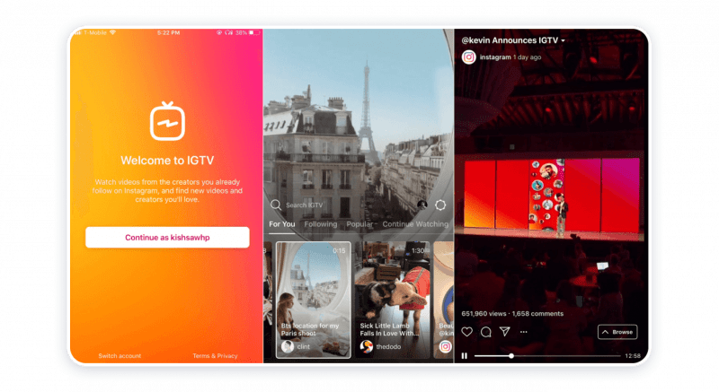 IGTV — YouTube Competitor #5