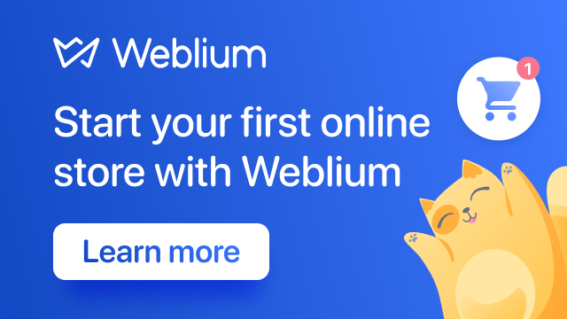Start your first online store with Weblium