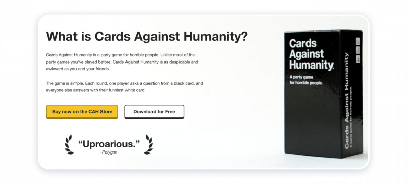D2C Cards Against Humanity