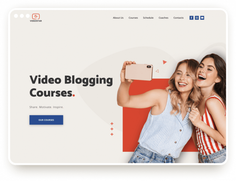 Template Video Blogger Courses