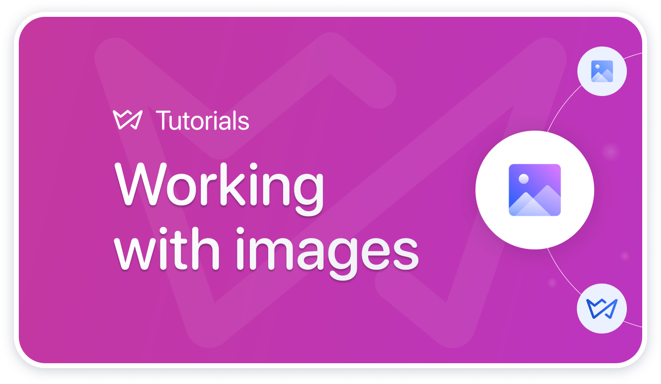 working with images weblium