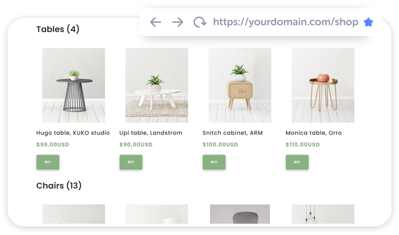 store homepage weblium