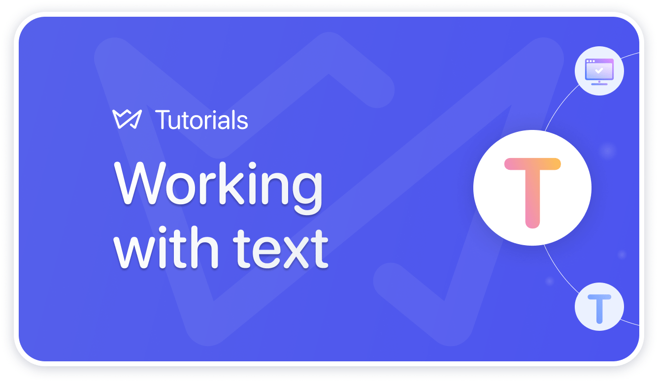 working with text weblium