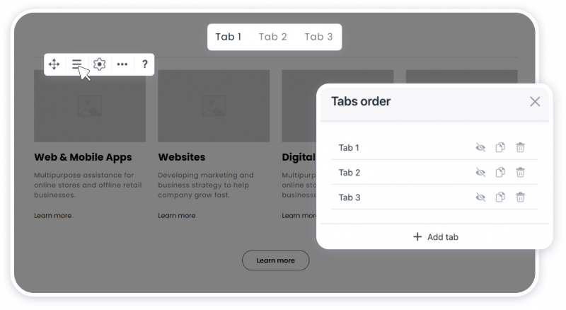 More flexibility with tabs