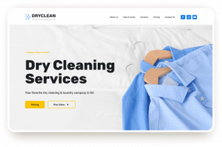 dry cleaning template