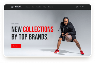 sport clothes store template