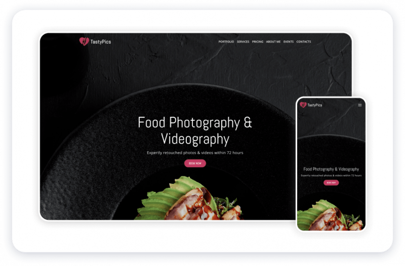 Weblium website template