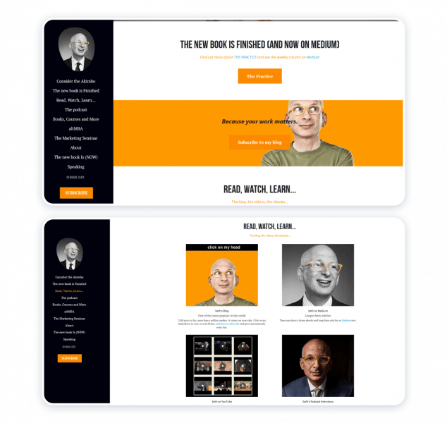 Seth Godin personal website