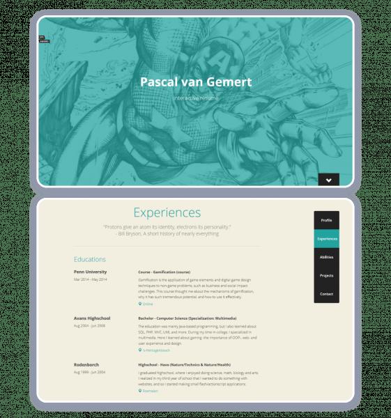 Pascal van Gemert personal website