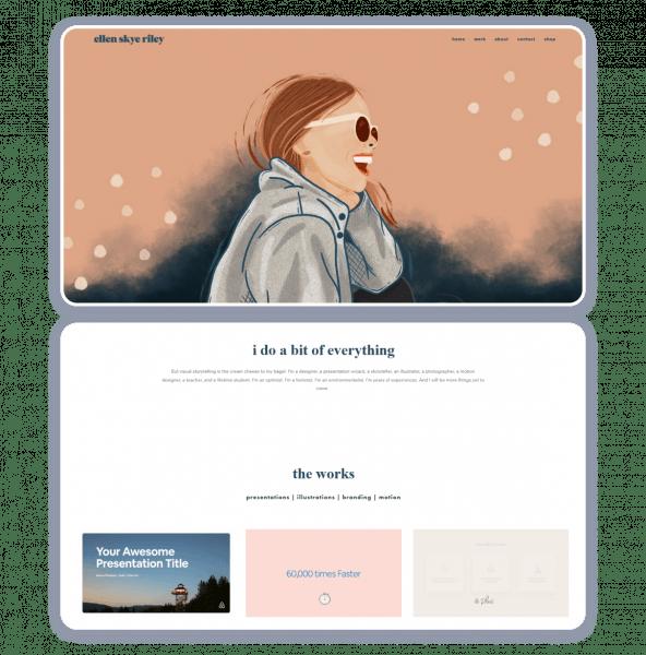 Ellen Skye Riley personal website