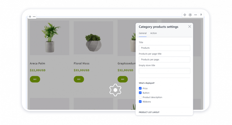 Customizing the category page