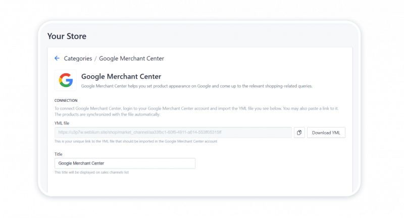 Importing products to Google Merchant Center