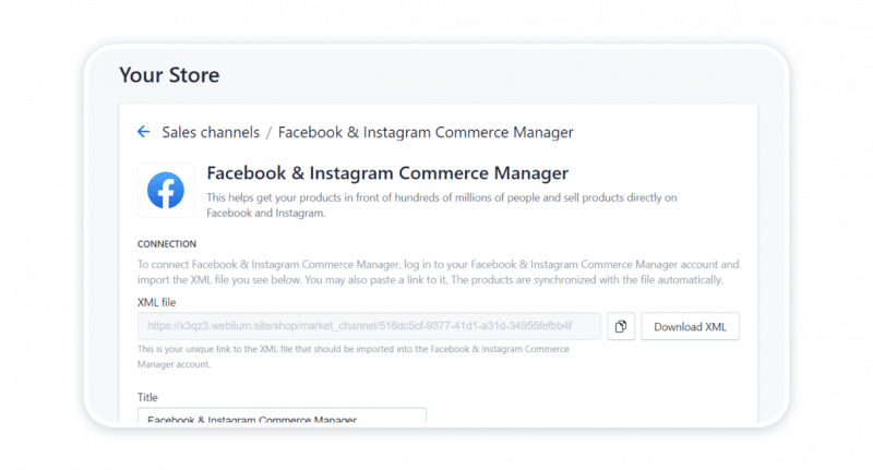 Connecting your store to Facebook & Instagram Commerce Manager