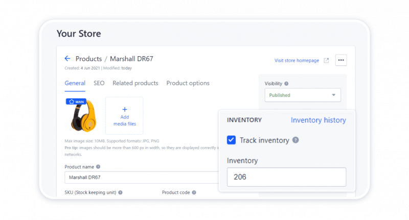 Inventory tracking for your store