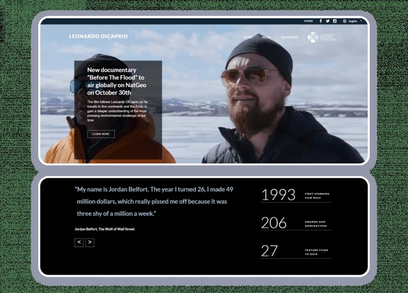 Leonardo DiCaprio actor website