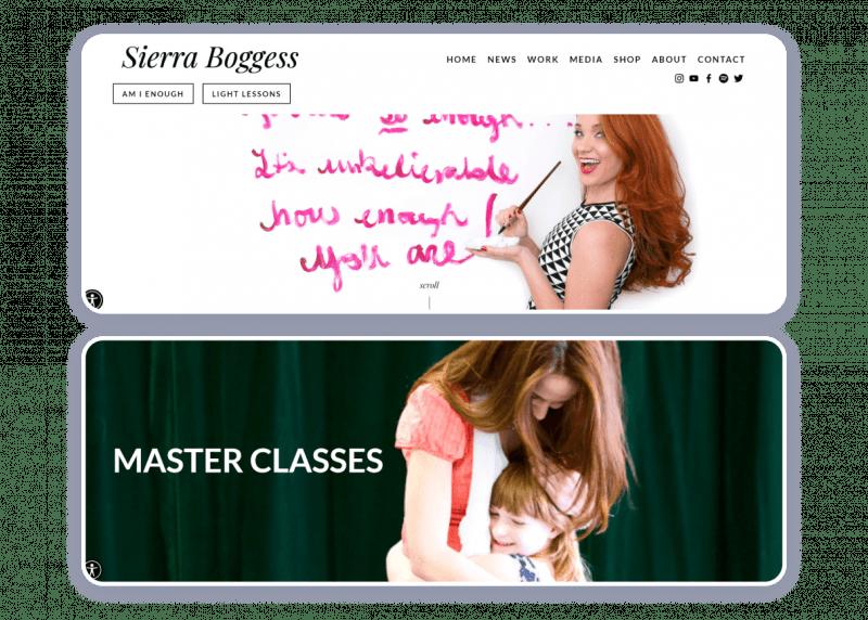 actress website example