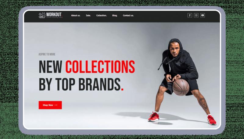 Sportswear clothes shop template