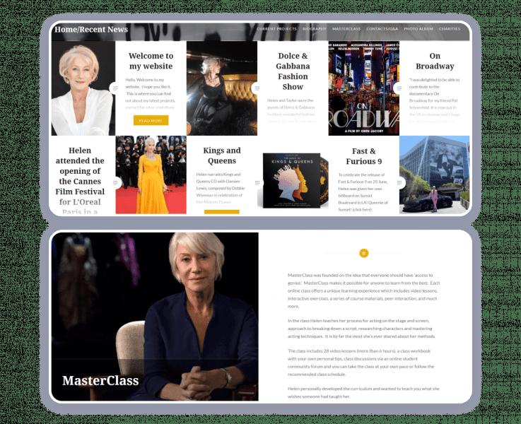 helen mirren actress website