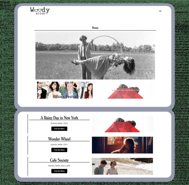 woody allen actor website example