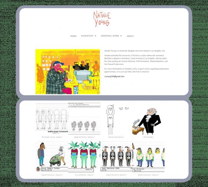 animation portfolio example