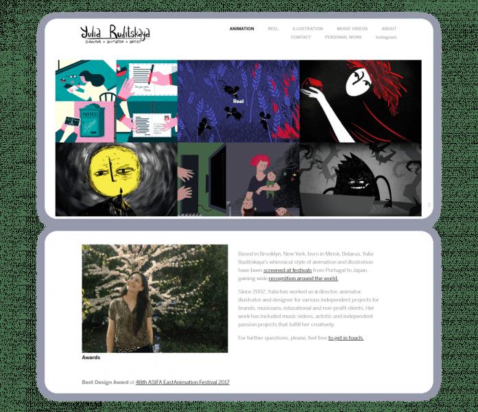 animation portfolio website