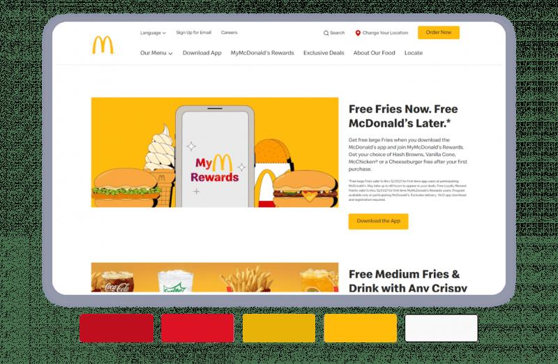McDonald's brand color