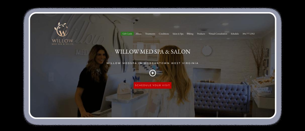 salon website designs
