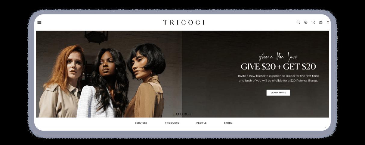 salon website examples
