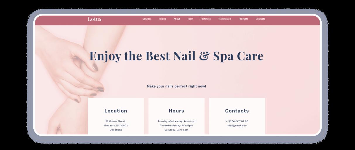 nail salon websites
