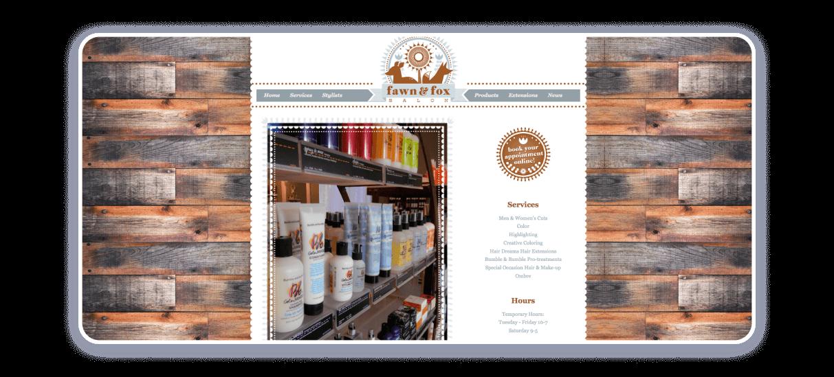 spa salon website example