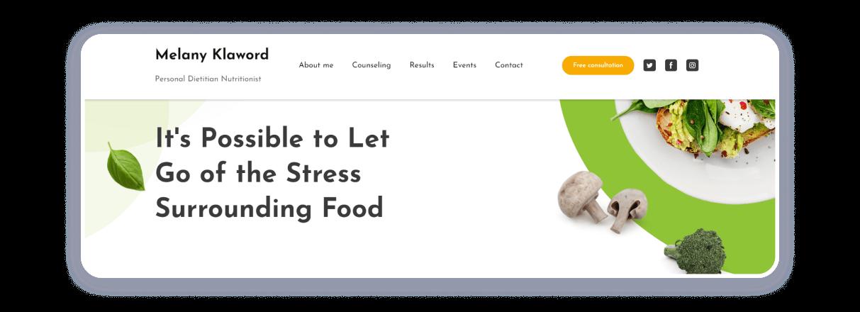 nutritionist internet business idea